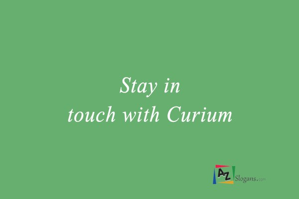 Stay in touch with Curium