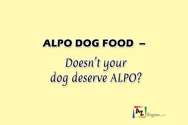 ALPO DOG FOOD – Doesn't your dog deserve ALPO?
