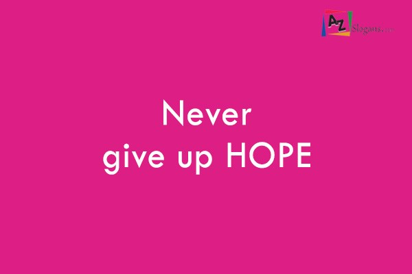 never give up hope essay Now that i have her back, i never want to lether go my mother will always be what matters to me most i almost lost her, andi never want to experience that feeling again.