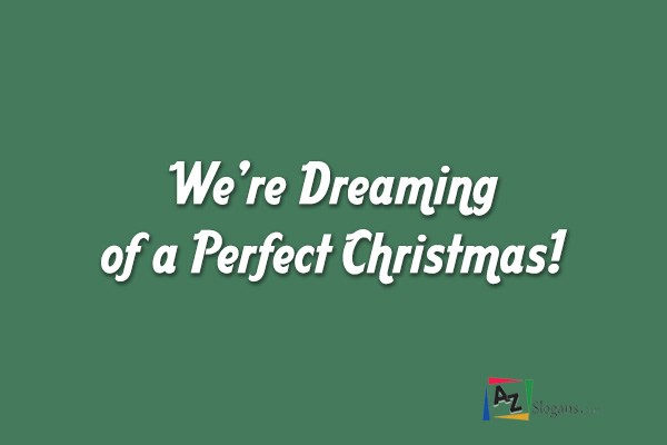 We're Dreaming of a Perfect Christmas!