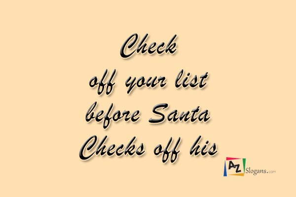 Check off your list before Santa Checks off his