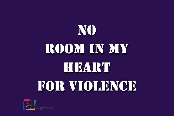 No Room In My Heart For Violence