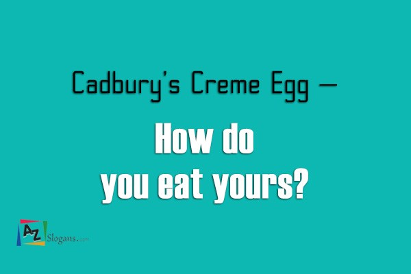 Cadbury's Creme Egg –   How do you eat yours?