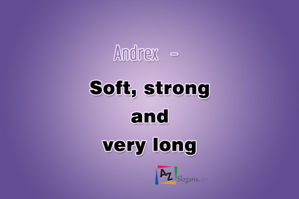Andrex   –   Soft, strong and very long