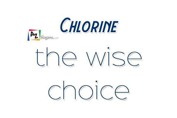 Chlorine the wise choice
