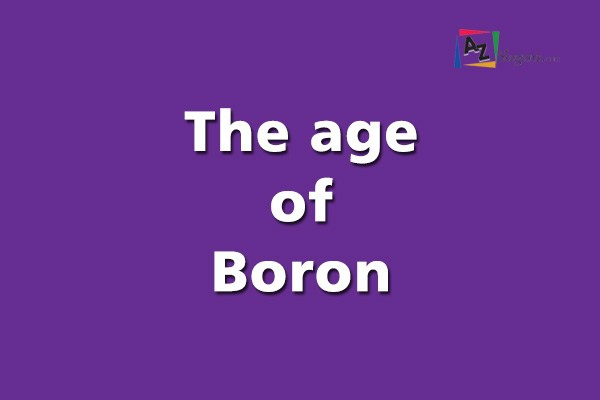 The age of Boron