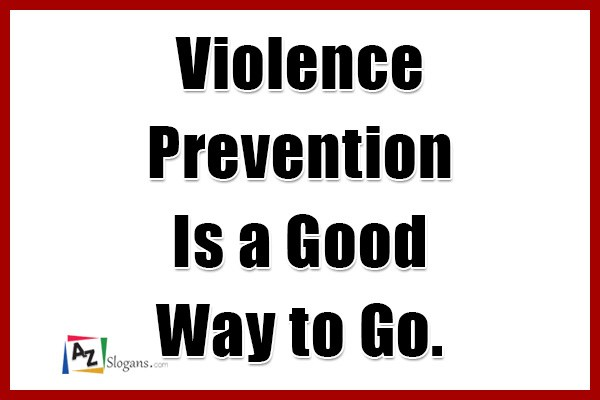 Violence Prevention Is a Good Way to Go.