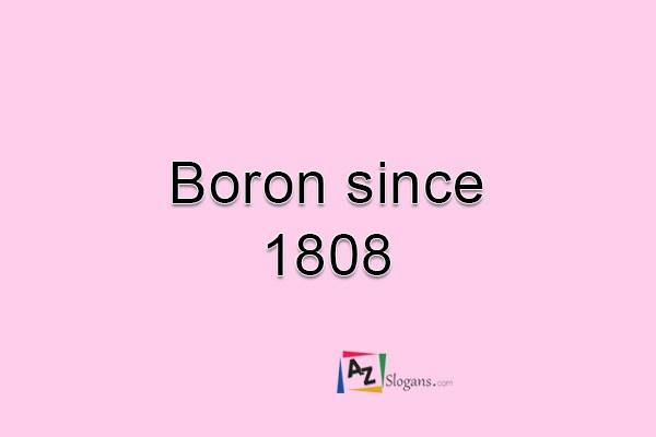Boron since 1808
