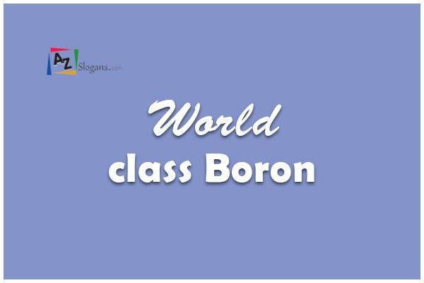 World class Boron