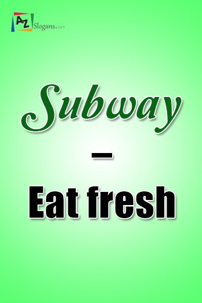 Subway – Eat fresh