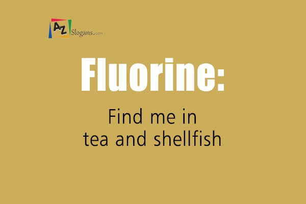 Fluorine: Find me in tea and shellfish