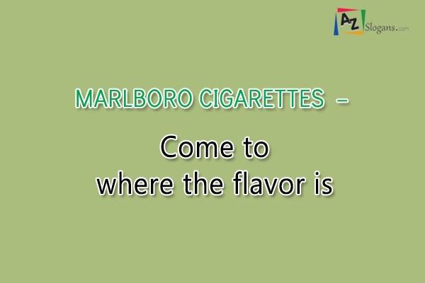 MARLBORO CIGARETTES  –  Come to where the flavor is