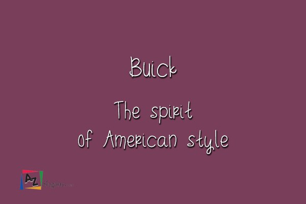 Buick    The spirit of American style