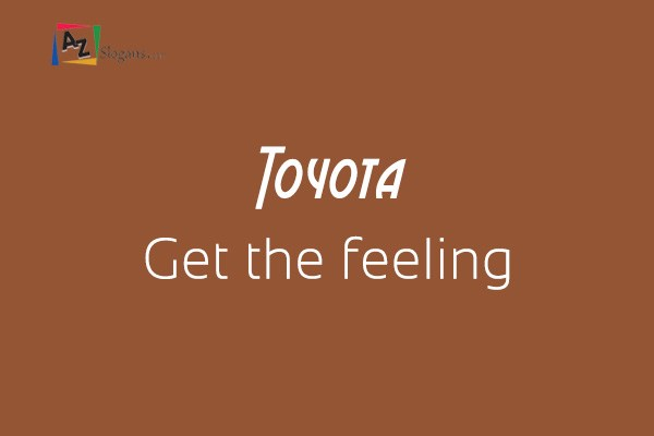 Toyota    Get the feeling