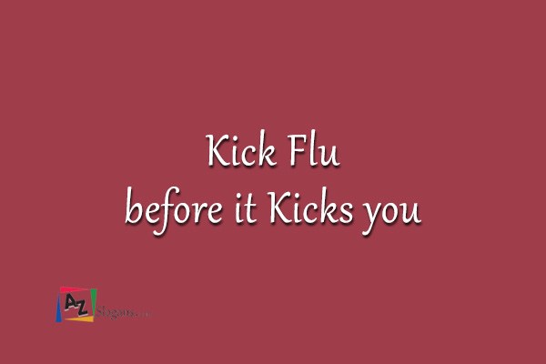 Kick Flu before it Kicks you