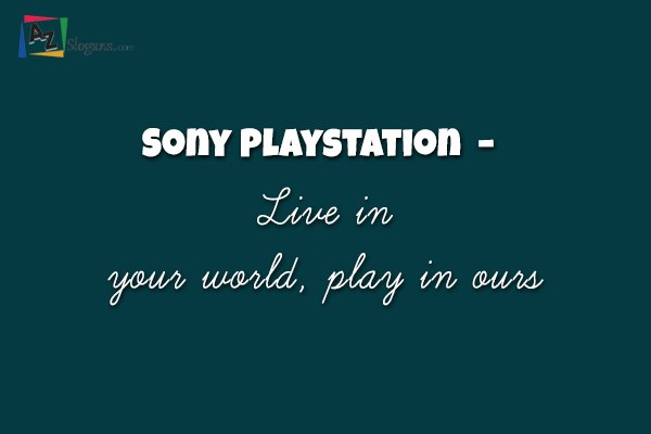 Sony Playstation  –  Live in your world, play in ours