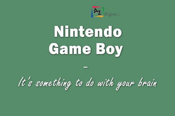 Nintendo Game Boy  –  It's something to do with your brain