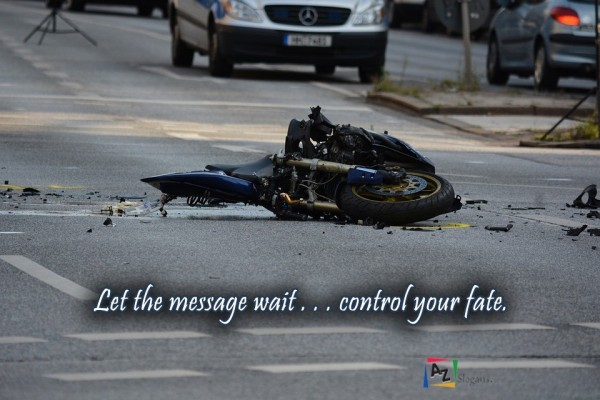 Let the message wait . . . control your fate.