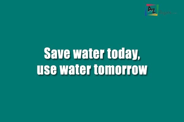 Conserving Water For Tomorrow