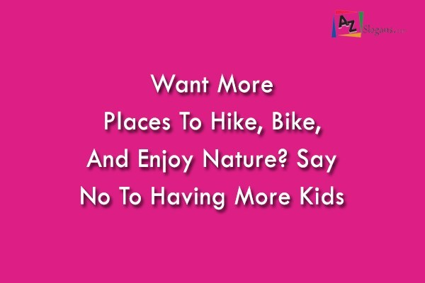 Want More Places To Hike, Bike, And Enjoy Nature? Say No To Having More Kids
