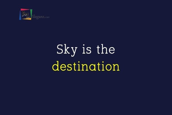 Sky is the destination
