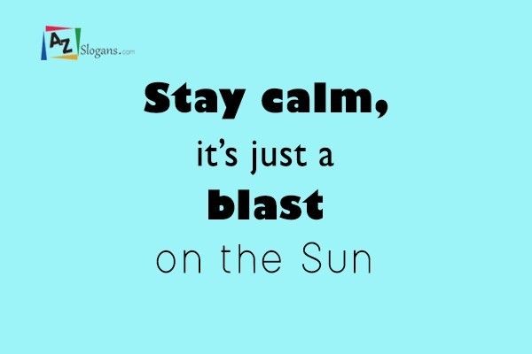Stay calm, it's just a blast on the Sun