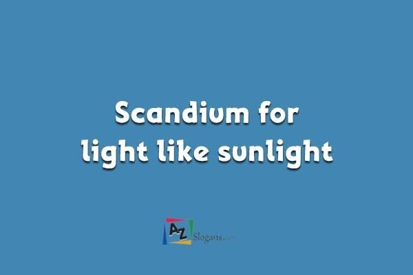 Scandium for light like sunlight