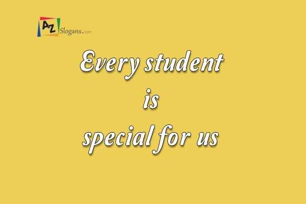 Every student is special for us