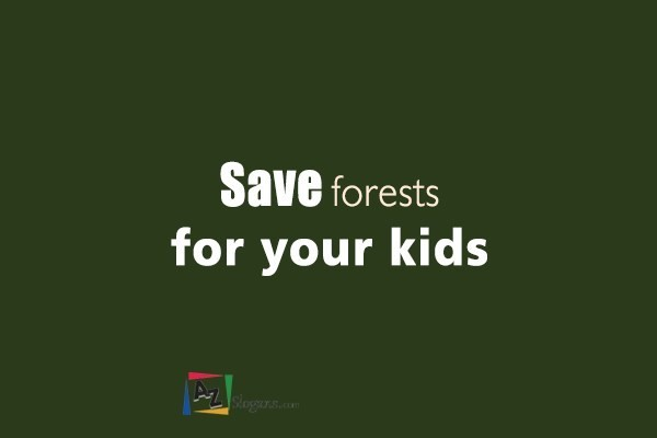 Save forests for your kids