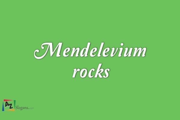 Mendelevium rocks