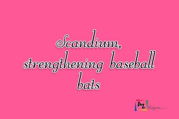 Scandium, strengthening baseball bats