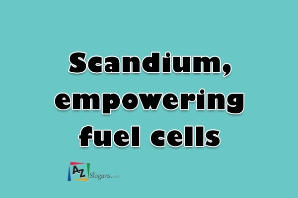 Scandium, empowering fuel cells