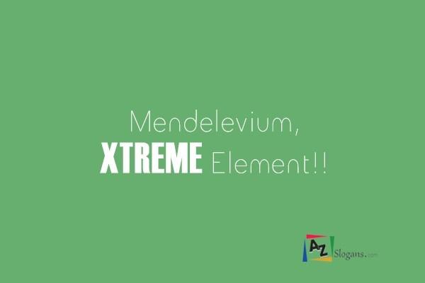 Mendelevium, XTREME Element!!