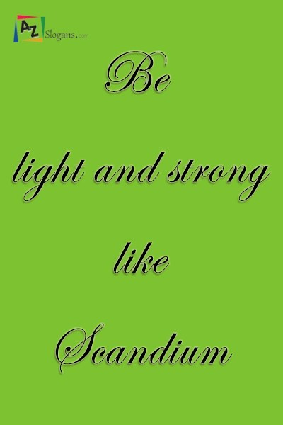 Be light and strong like Scandium