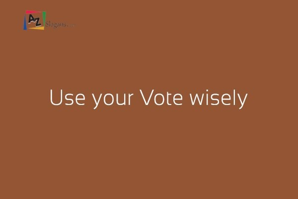 Use your Vote wisely