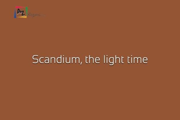 Scandium, the light time