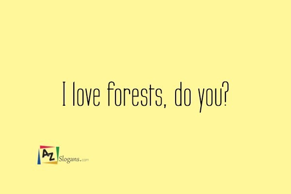 I love forests, do you?