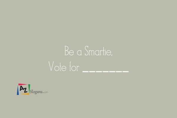 Be a Smartie, Vote for _______