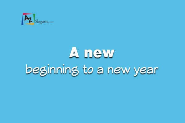 A new beginning to a new year
