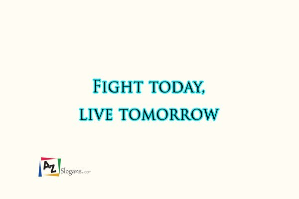 Fight today, live tomorrow