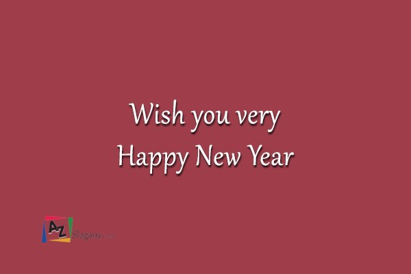 Wish you very Happy New Year