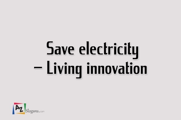Save electricity – Living innovation