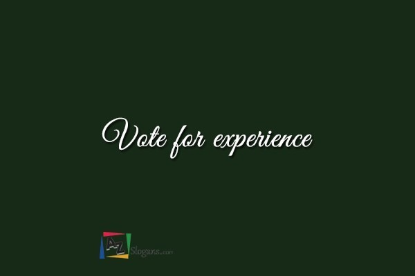 Vote for experience