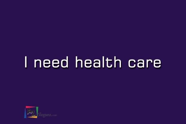 I need health care