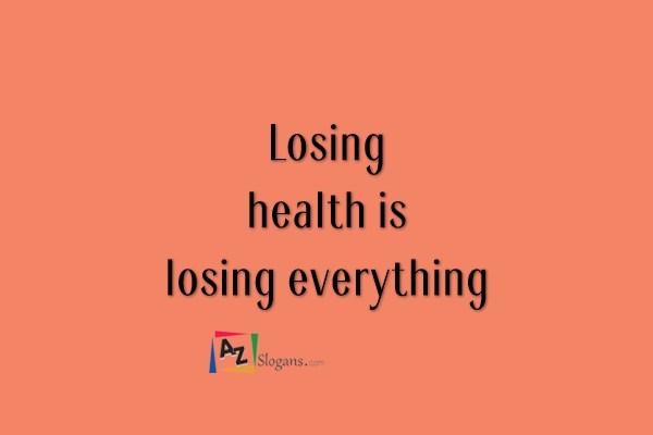 Losing health is losing everything