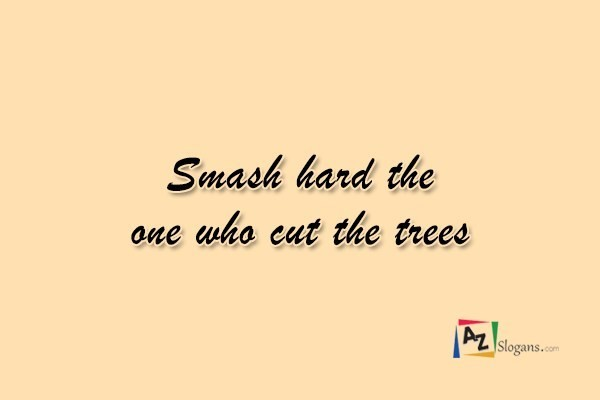 Smash hard the one who cut the trees