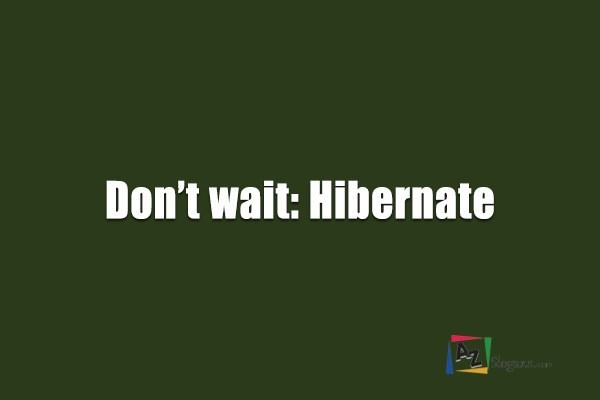 Don't wait: Hibernate