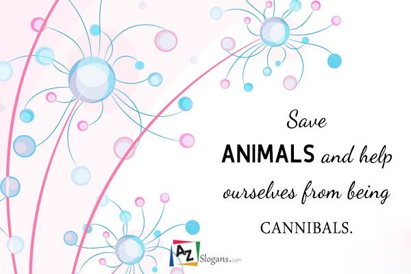 Save ANIMALS and help ourselves from being CANNIBALS.