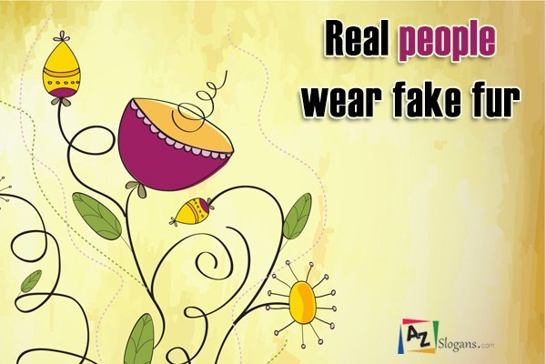Real people wear fake fur