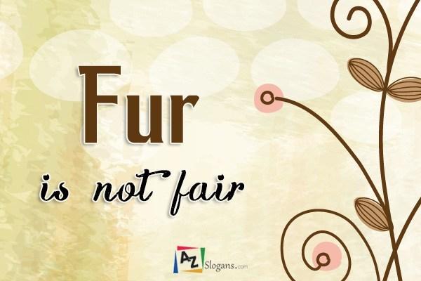 Fur is not fair